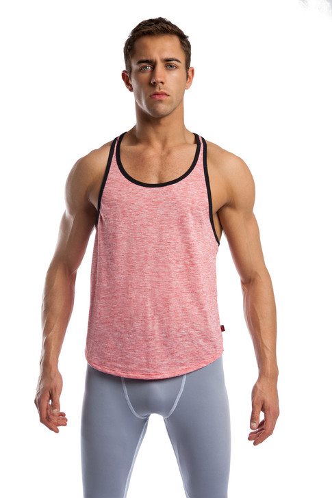 Jack Adams Relaxed Soft Tank Top - Salmon