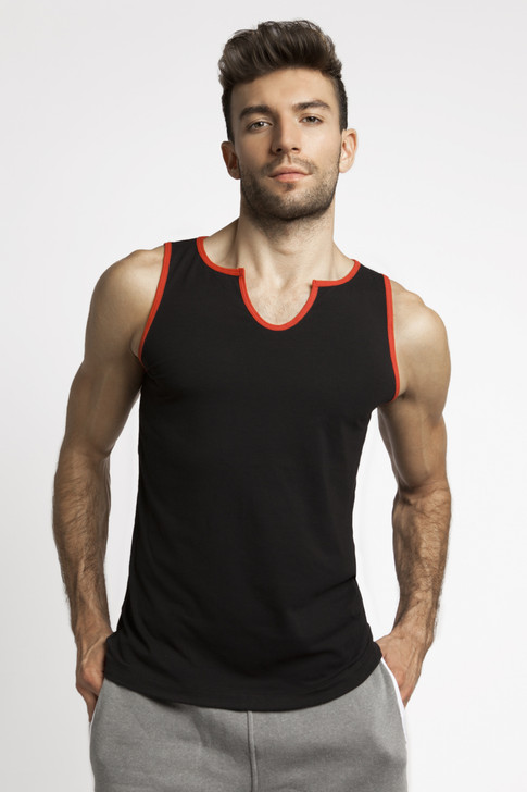 Jack Adams Core V-Tank - Black with Red Trim
