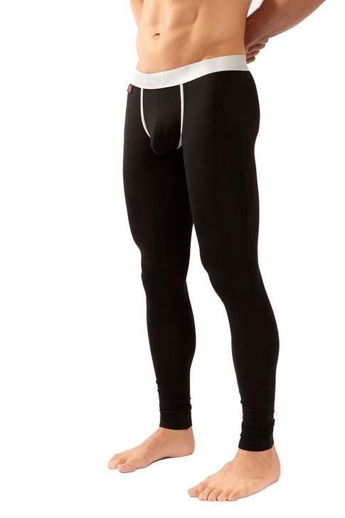 Jack Adams LUX Long John in black - side view - men's premium underwear -