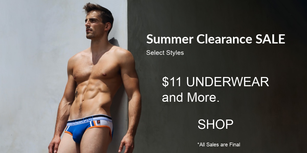 Summer Clearance Sale. Select Styles. $11 Underwear and more. Shop. All Sales Final