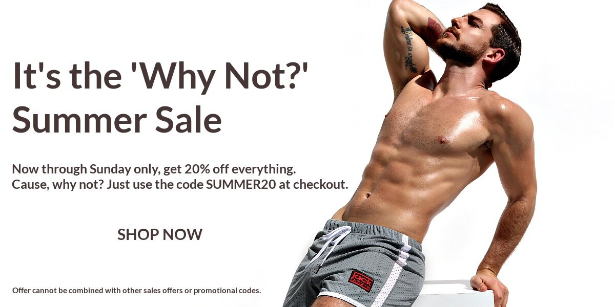 It's the  WHY NOT? Summer Sale.Now through Sunday only, get 20% off everything. Cause, why not? Just use the code SUMMER at checkout. SHOP NOW