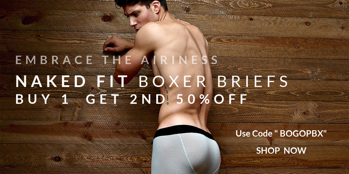 """Embrace the airiness. Naked Fit Boxer Briefs Buy 1 Pair Get a 2nd. 50% off with code """"BOGOPBX"""""""