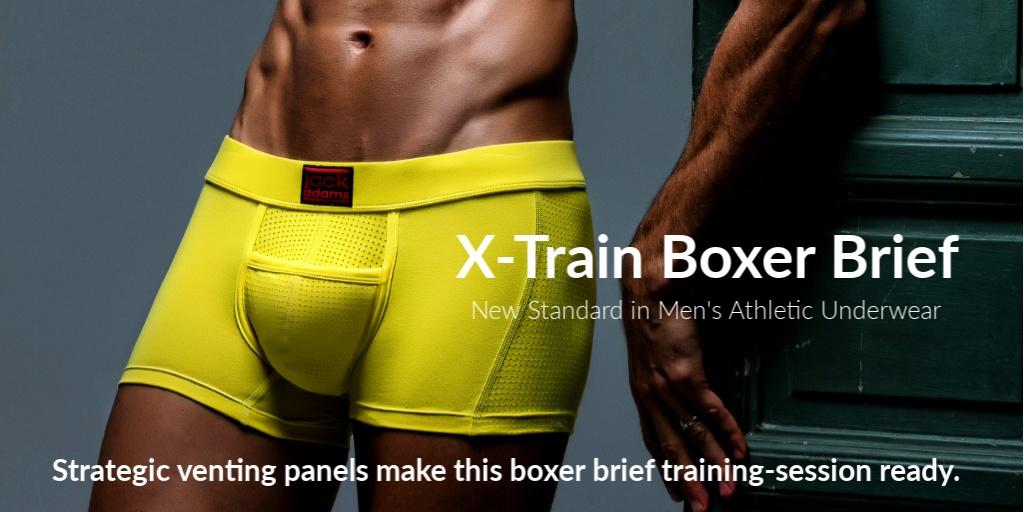 X-Train Boxer Brief.  Strategic venting panels make this boxer brief training...session ready.
