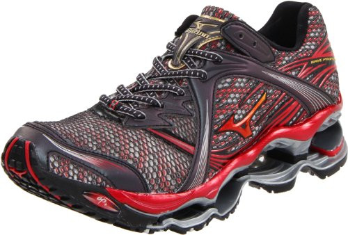 best website acf61 876c7 Mizuno Men s Wave Prophecy Running Shoe,Anthracite Gold Chinese Red,11.5 D