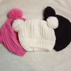 Brown Poms Toddler Knit Hat