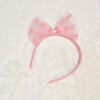 Cotton Candy Spotted Tulle Bow Headband