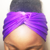 Solid Purple Turban Headband