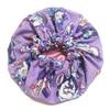 Princess Jasmine Purple Satin Bonnet