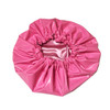 Pink Oversized Satin Lined Shower Cap