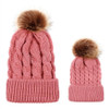Mommy and Me Pom Knit Hat Set - Peach