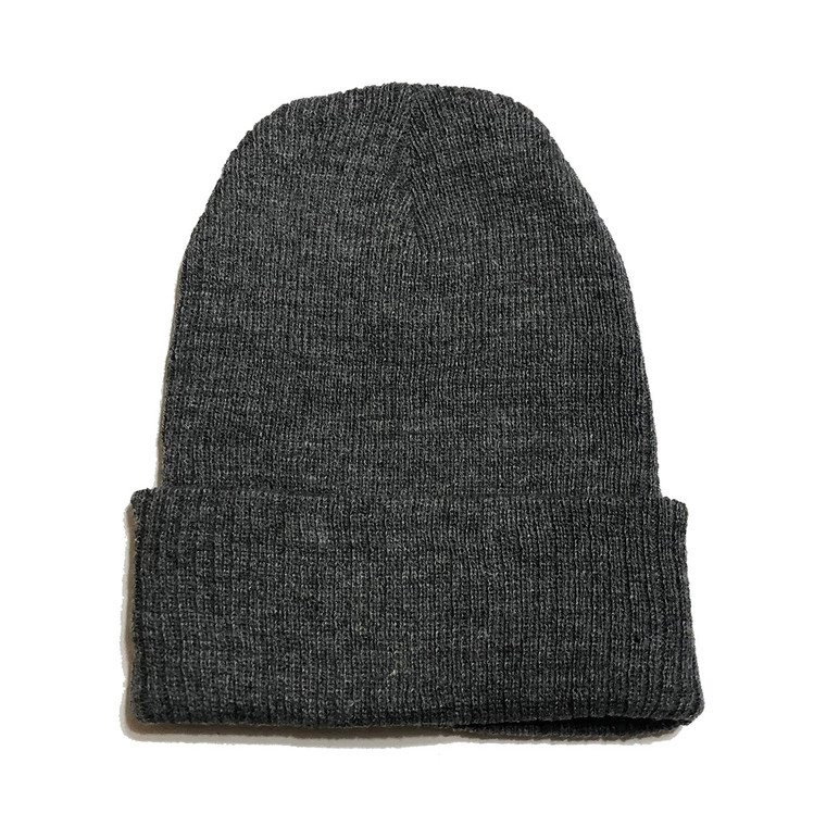 Knit Beanie Hat - Smoke Grey