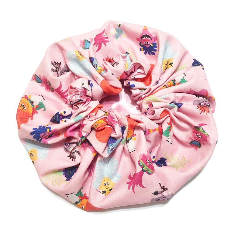 Trolls Pink Poppy and Friends Satin Bonnet