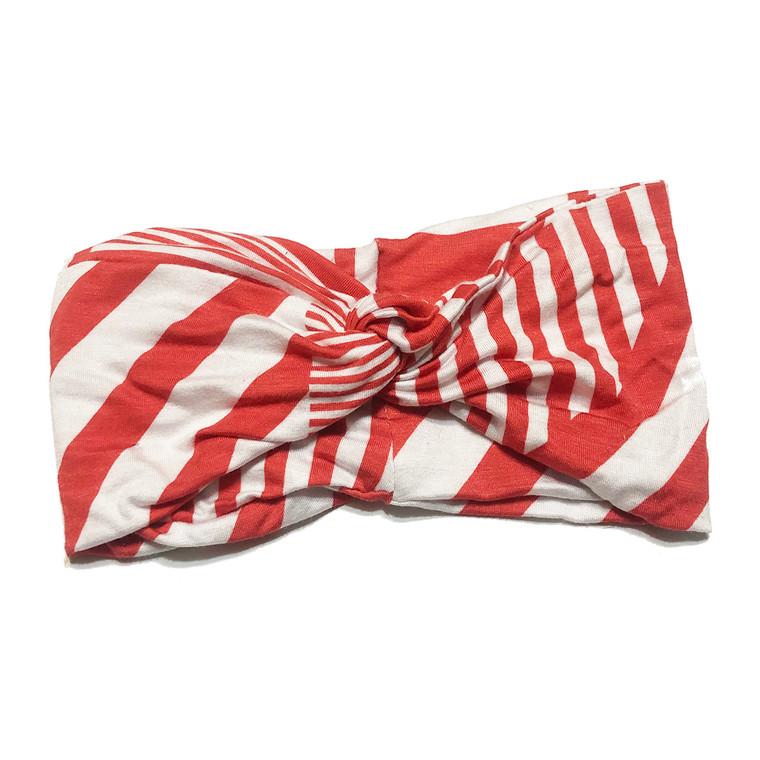 Red Stripey Turban Headband