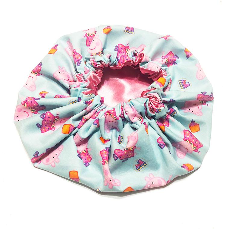 Pink Peppa Pig Satin Bonnet