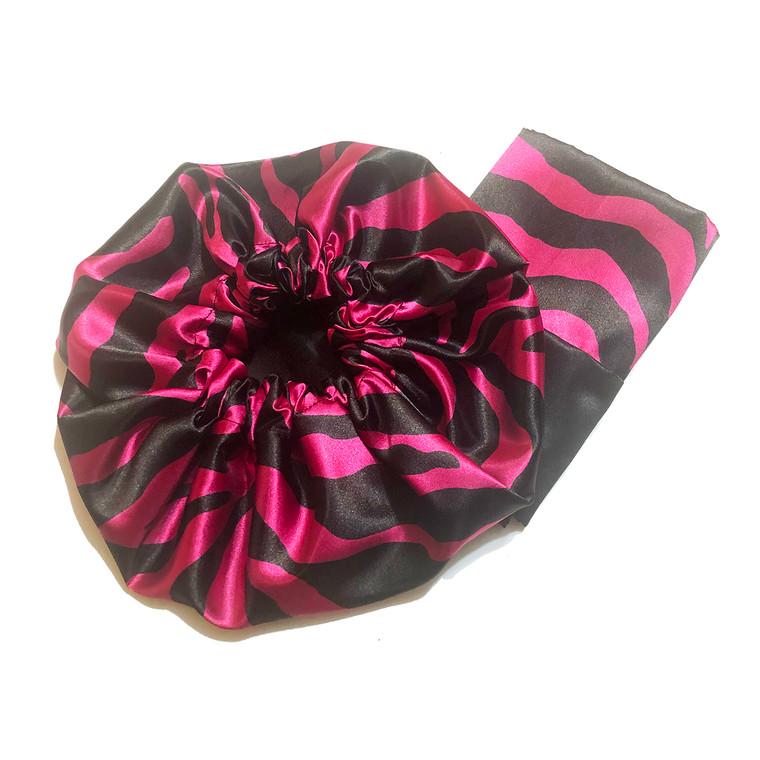Strawberry Licorice Reversible Satin Bonnet and Pillowcase Set