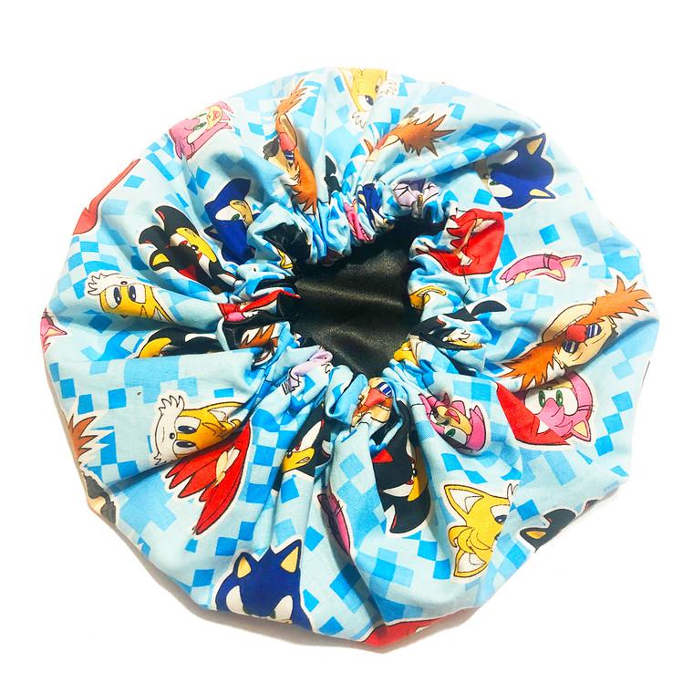 Sonic Pixels Satin Bonnet