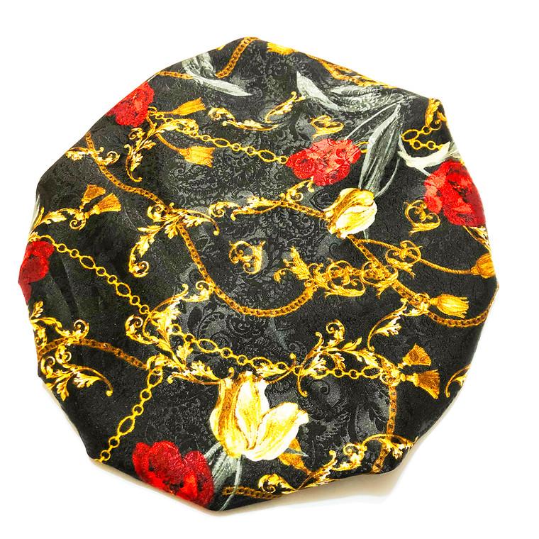 Rose Gold Link Reversible Satin Bonnet