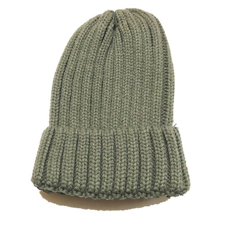 Ribbed Beanie Hat - Grey