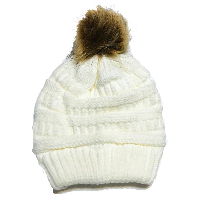Pom Hat - White