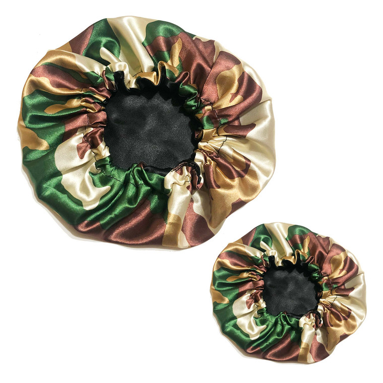 Mommy and Me Reversible Satin Bonnet - Camo (Choose up to 3 bonnets)