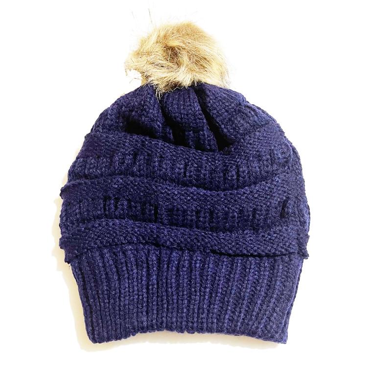 Pom Hat - Navy