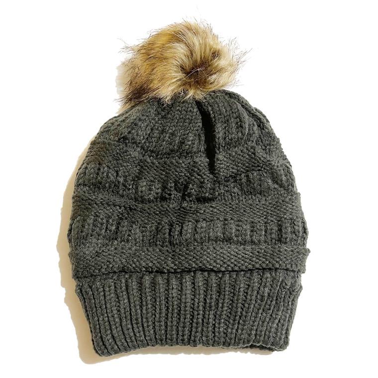 Pom Hat - Grey