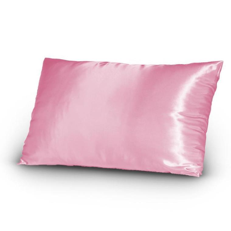 Pink Rose Silk Satin Pillowcase