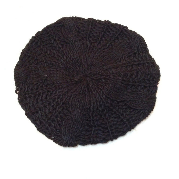 Black Knit Beanie (Satin Lining Optional)