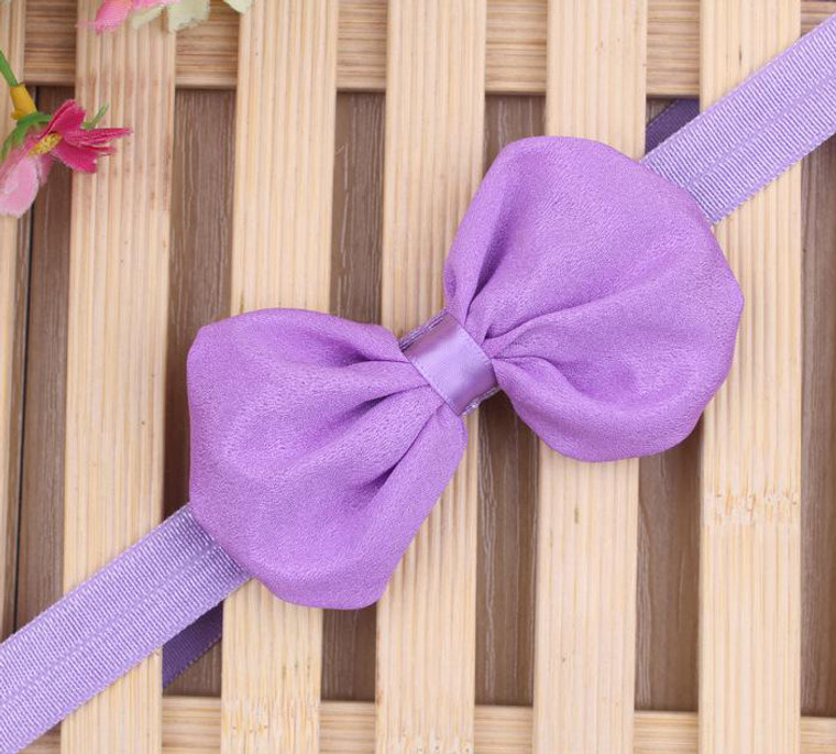 Purple Chiffon Bow Headband