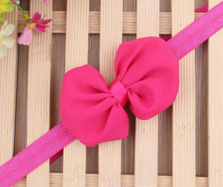 Rose Chiffon Bow Headband