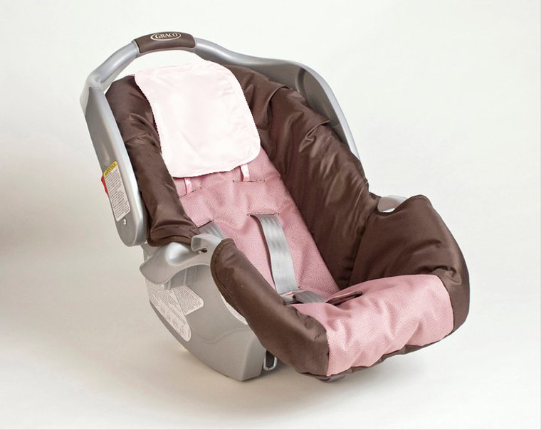 Cream Satin Infant Car Seat and Crib Hair Protector Set