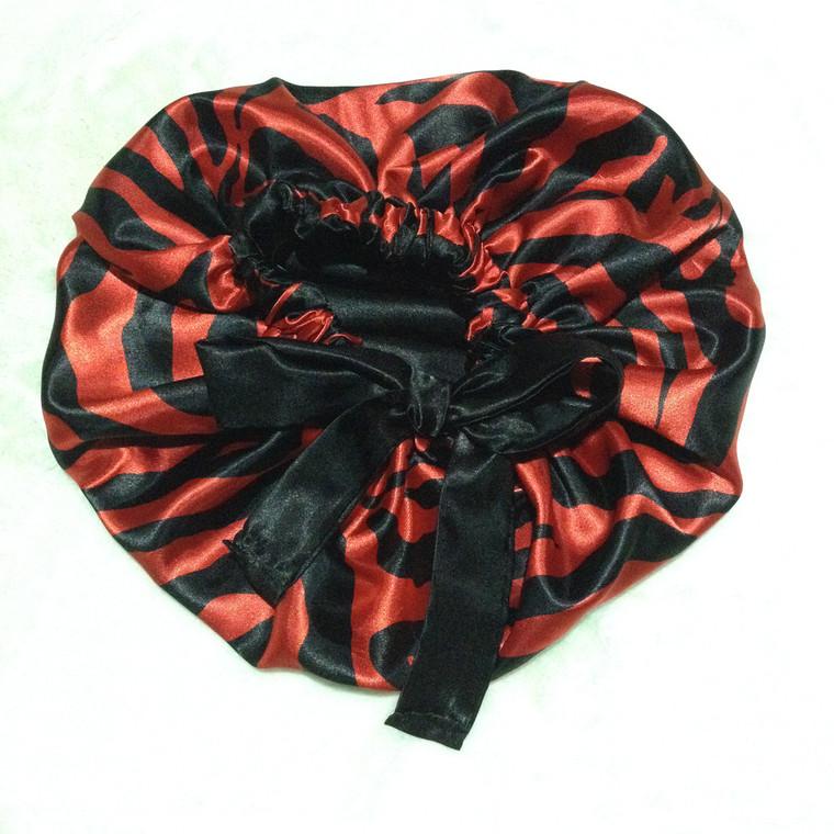 Red Bottom Reversible Satin Bonnet