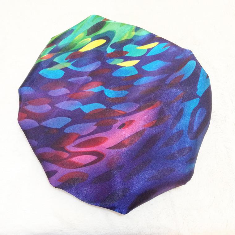 Rainbow River Reversible Satin Bonnet