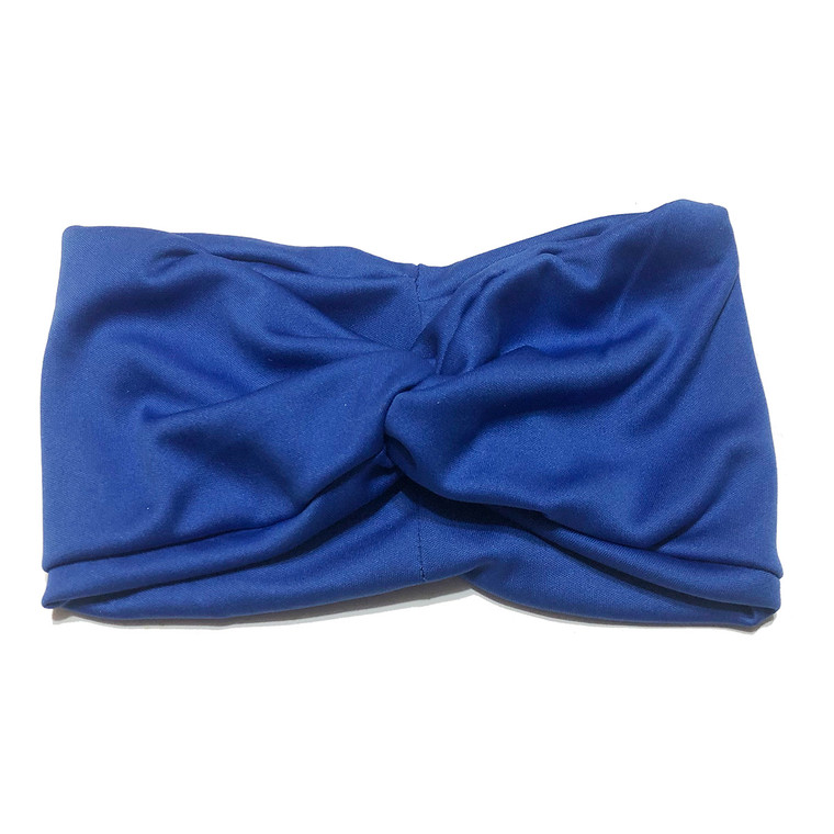 Solid Blue Turban Headband