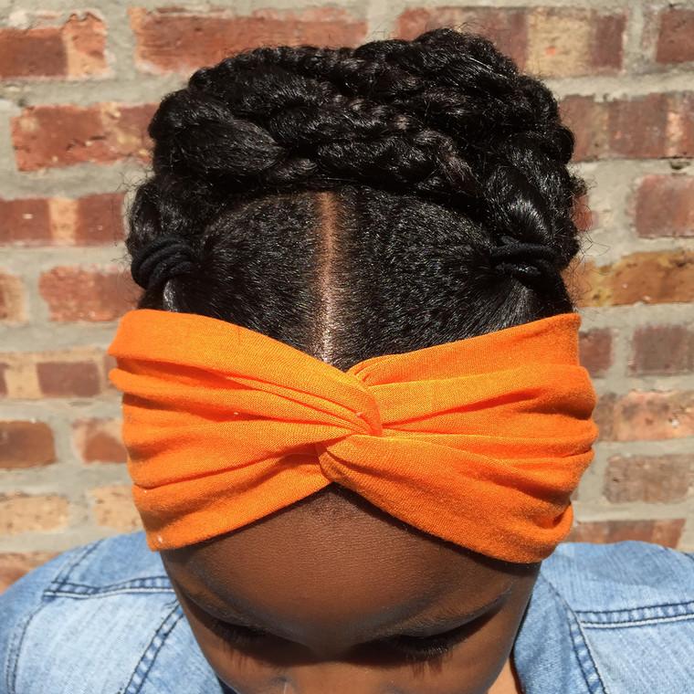 Solid Orange Turban Headband