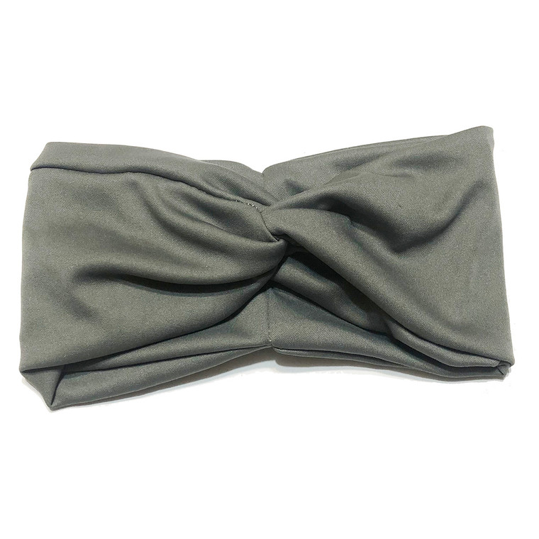 Solid Grey Turban Headband