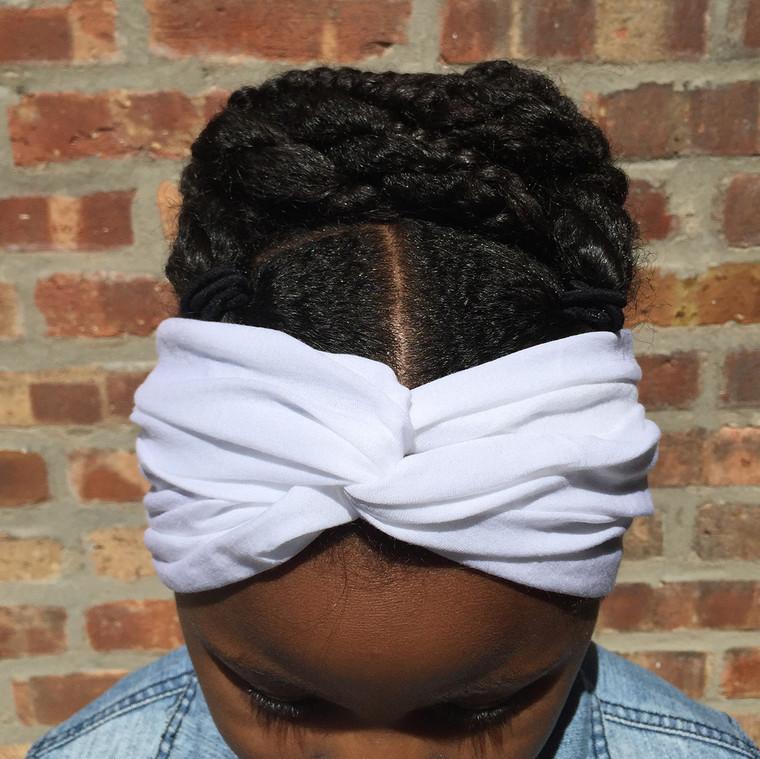 Solid White Turban Headband