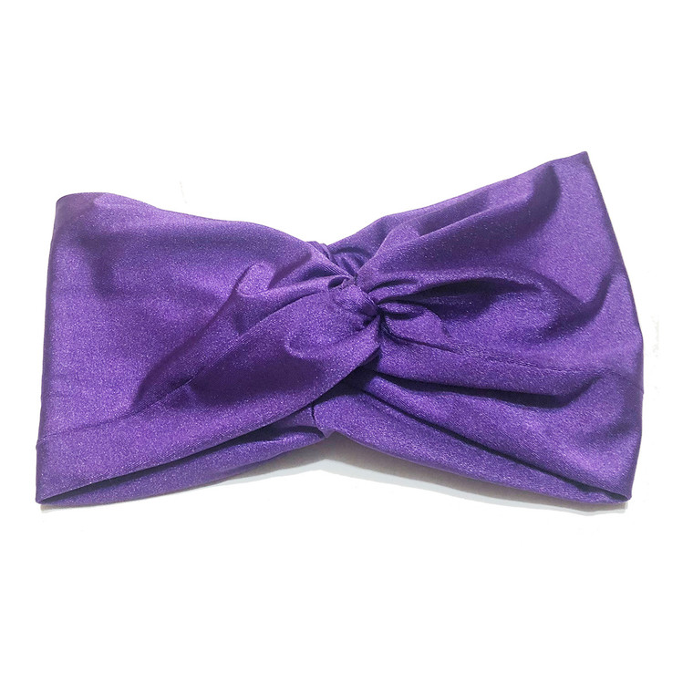 Solid Purple Turban Headband