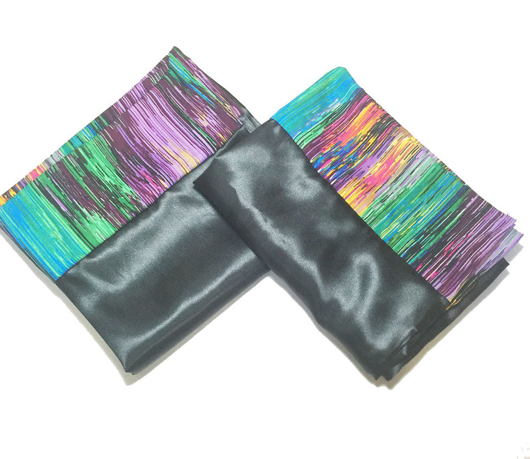 Color Streak Satin Pillowcase Set