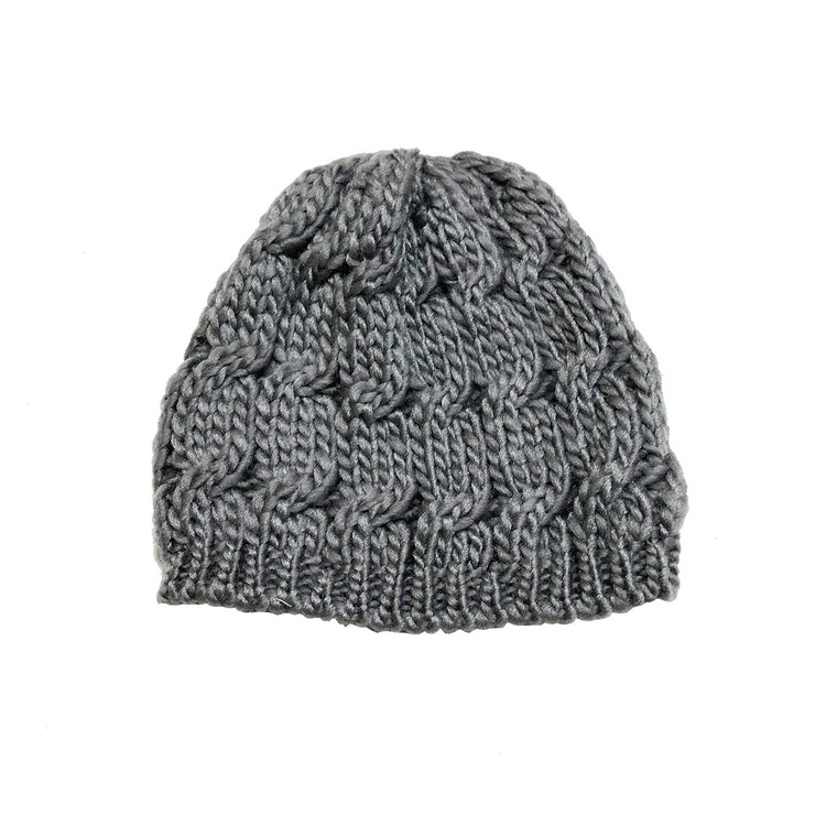 Infant/Toddler Knit Hat - Grey