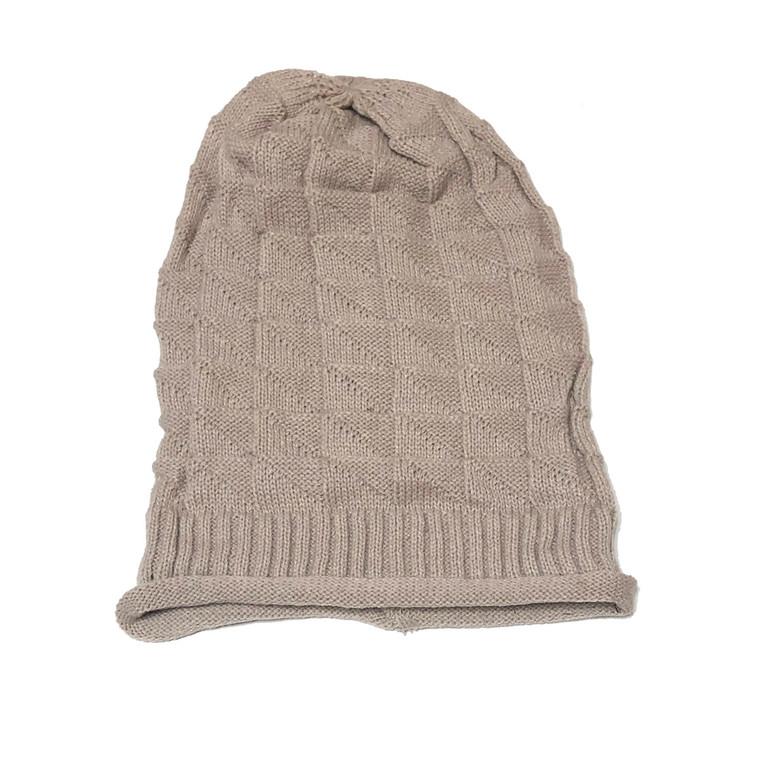 Oatmeal slouchy knit hat