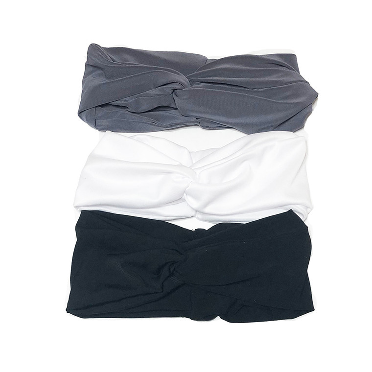Solid Turban Headband Bundle