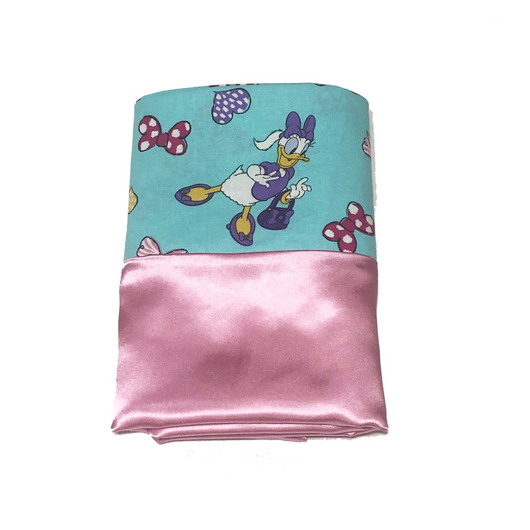 Minnie Mouse Teal Satin Pillowcase