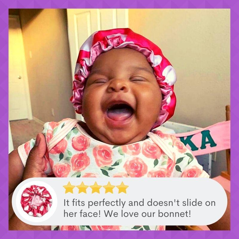 satin baby bonnets