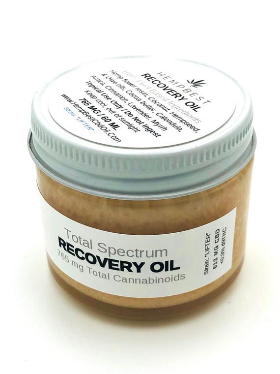 "HEMPBEST Hemp CBD  Recovery Topical Oil 765 MG / 60 ML / Strain: ""Lifter"""