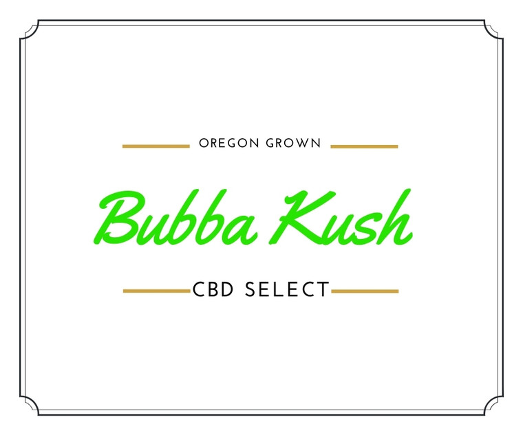 """""""Bubba Kush CBD Hemp Flower features sedating and calming effects along with a deep and complex taste profile"""