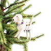 White Dog with Lights Ornament