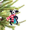 Black Dog with Tree Ornament