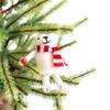 Polar Bear with Coffee Ornament