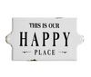 Happy Place Enamel Wall Sign
